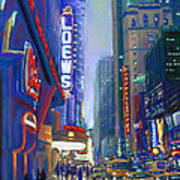 Rainy Reflections In Times Square Art Print