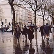 Rainy Sunday On Cromwell Road In London England Art Print