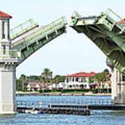 Raised Bridge Art Print by Kenneth Albin