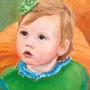 Ramey Kate In The Pumpkin Patch Art Print