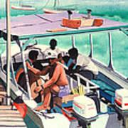 Ramon's Glass Bottom Boat Art Print