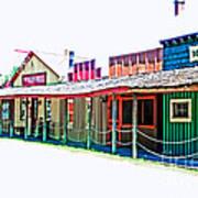 Ranch Buildings - Hdr White Art Print