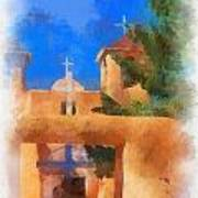 Ranchos Church Gate - Aquarell Art Print