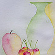 Ranier Cherries And A Pink Lady Art Print