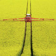 Rape Seed Spraying Art Print