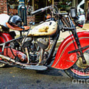 Rare Indian Motorcycle Art Print