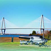 Ravanel Bridge At Patriot Point Charleston Sc Art Print
