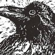 Raven Art Print by Julia Forsyth