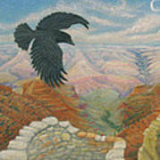 Raven Over The South Rim  Art Print