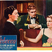 Rebecca, From Left Judith Anderson Art Print by Everett