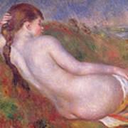 Reclining Nude In A Landscape Art Print