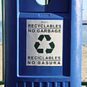 Recycling Bin Art Print by Photo Researchers, Inc.