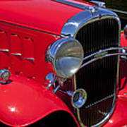 Red 1932 Oldsmobile Art Print