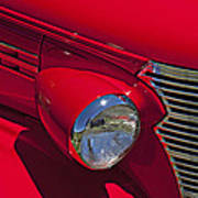 Red 1938 Chevy Coupe Art Print