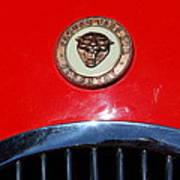 Red 1952 Jaguar Xk120 . 7d15952 Art Print