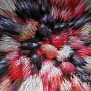 Red And Black Explosion #01 Art Print