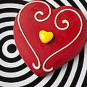 Red And Yellow Heart Art Print by Garry Gay