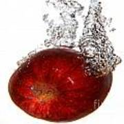 Red Apple Dropped Art Print