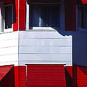 Red Awnings Art Print