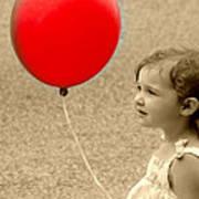 Red Baloon Art Print