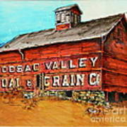 Red Barn Adams Mass Art Print