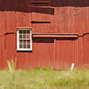 Red Barn Of New Jersey Art Print