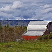 Red Barn With Tin Roof Art Print