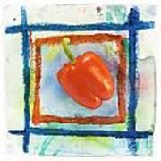 Red Bell Pepper Art Print