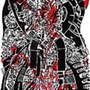 Red Black 2 Art Print
