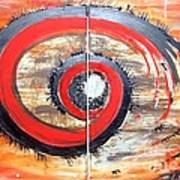 Red-black Swirl Art Print