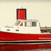 Red Boat Red Door Art Print