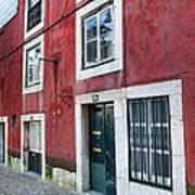 Red Building  Lisboa Portugal Art Print