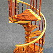 Red Cedar Rustic Spiral Stairs Art Print