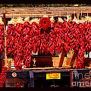Red Chili Ristra Truck Art Print