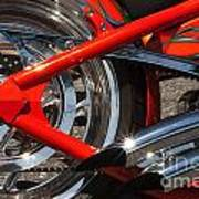 Red Chopper Detail Art Print