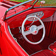 Red Classic Car Art Print