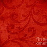 Red Crispy Oriental Style Decor For Fine Design. Art Print by Marta Mirecka