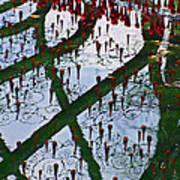 Red Crystal Refletcion Art Print