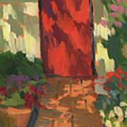 Red Door - Shadow And Light Art Print
