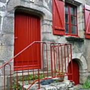 Red Door In Laroche Bernard Art Print