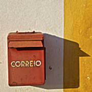 Red Faded Mailbox Of Portugal II Art Print