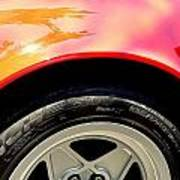 Red Ferrari  Art Print