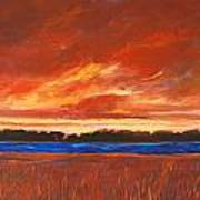 Red Field And Red Sky  Art Print