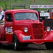 Red Ford Pickup Art Print