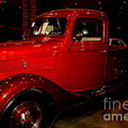Red Ford Truck Art Print