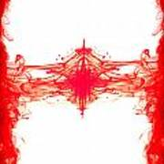 Red Ink Abstract Print by Richard Thomas