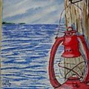 Red Lantern Art Print