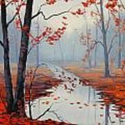 Red Leaves Art Print by Graham Gercken