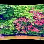 Red Leaves Pano Art Print