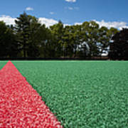Red Line On An Athletic Field Art Print